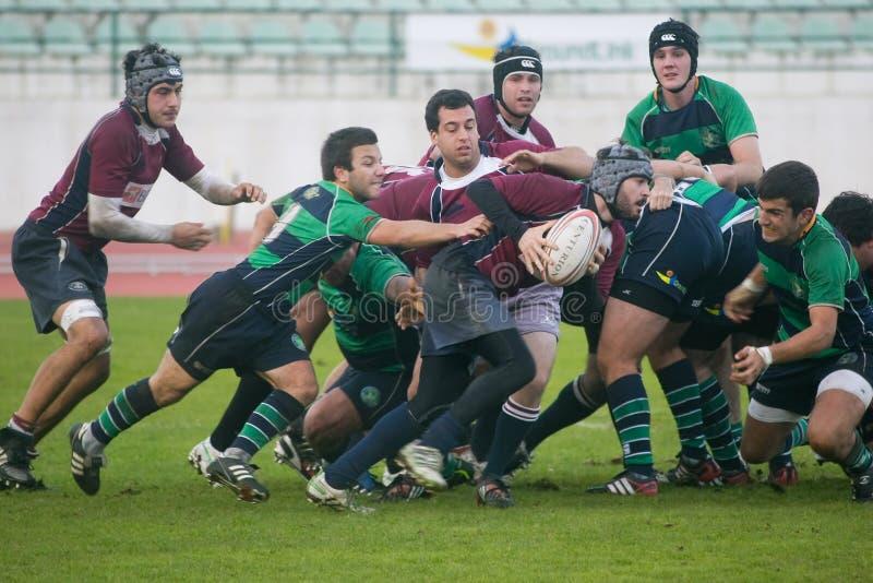 Rugby Clube de Caldas CONTRE le rugby de Evora de Clube photos libres de droits