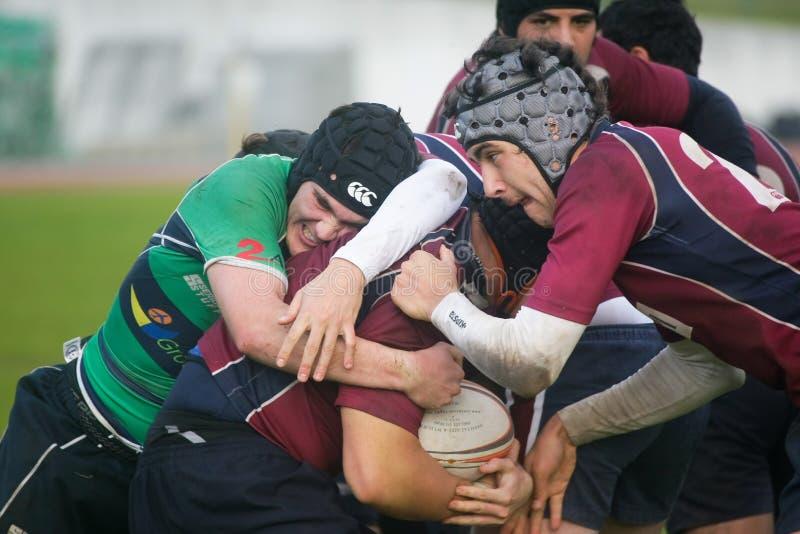 Rugby Clube di Caldas CONTRO rugby de Evora di Clube immagine stock libera da diritti