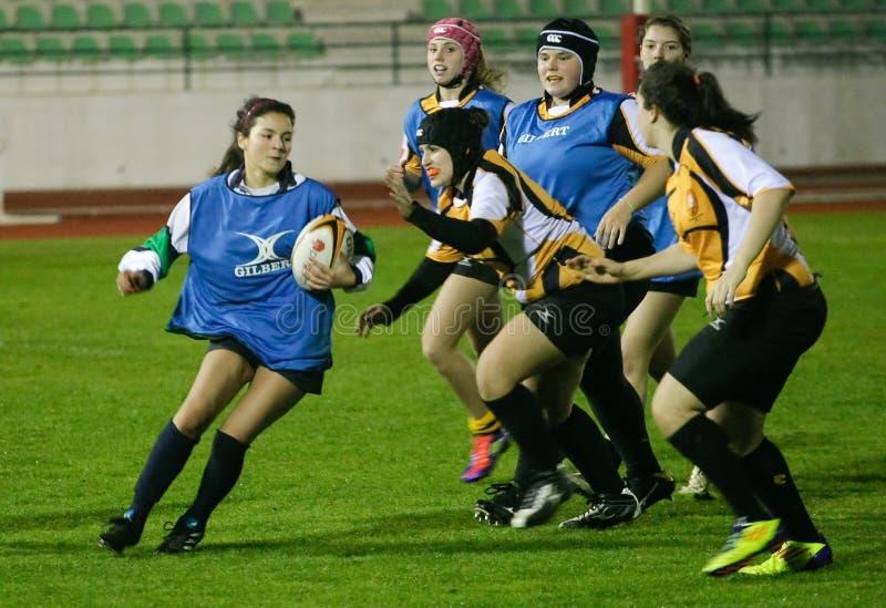 Rugby Clube (PRT) de Caldas et tigres de Trillium (POUVEZ) photos libres de droits