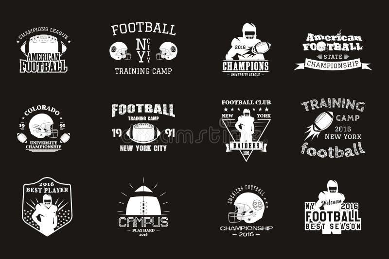 Rugby da faculdade e equipa de futebol americana, terreno ilustração royalty free