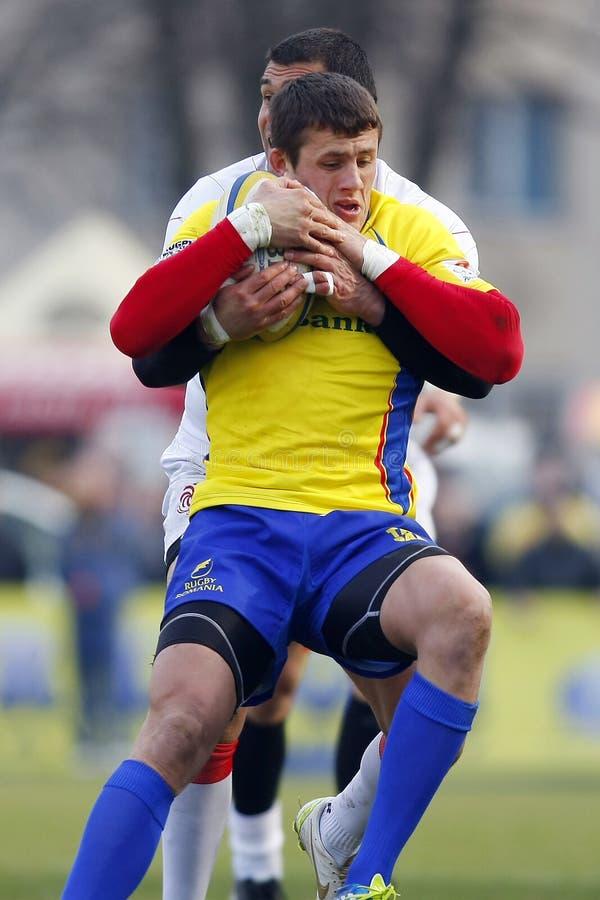 Rugby de la Roumanie-Géorgie photos libres de droits