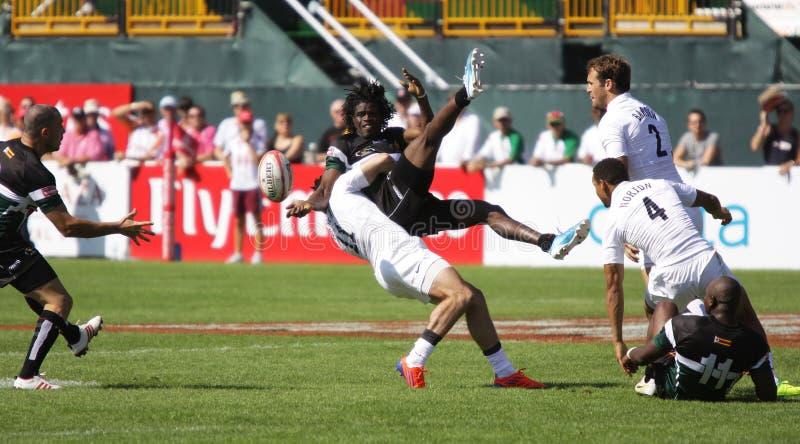 Rugby de Sevens des hommes photographie stock libre de droits