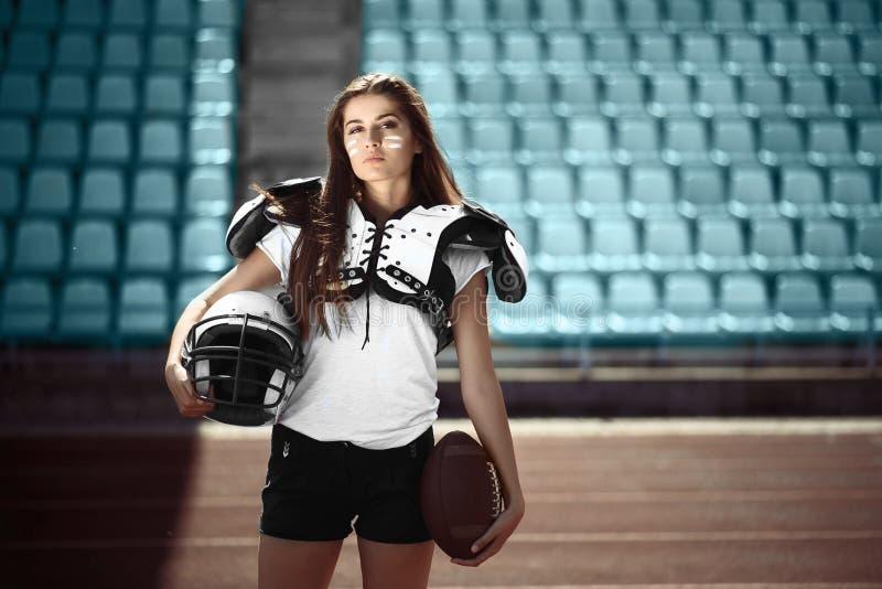 Rugby dziewczyny gracz zdjęcie stock