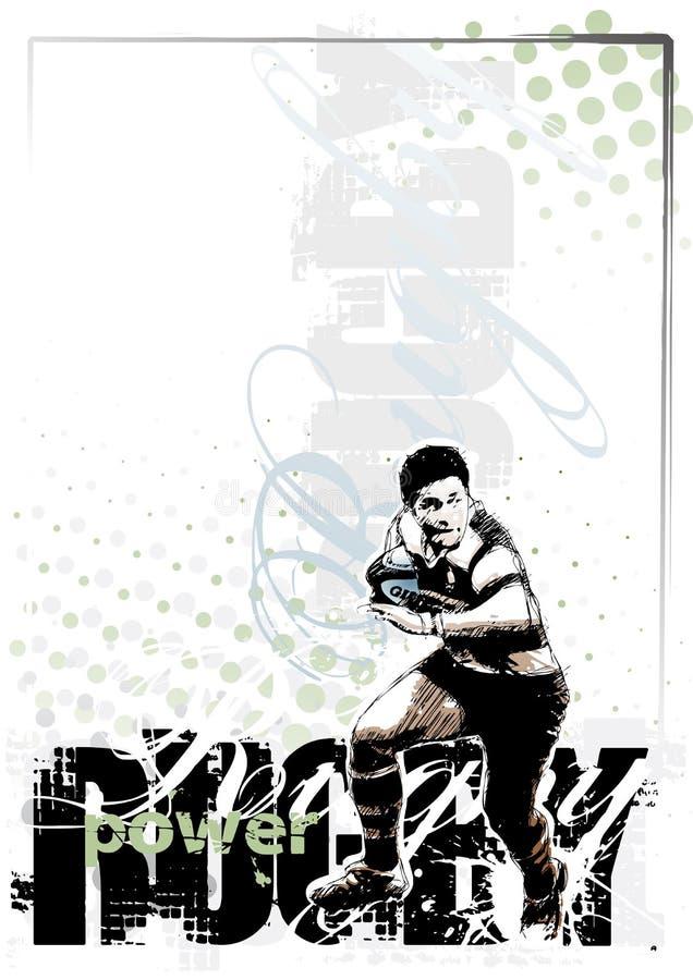 rugby för 2 bakgrund stock illustrationer