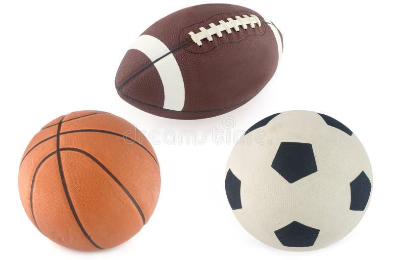 rugby för bollbasketfotboll royaltyfri foto