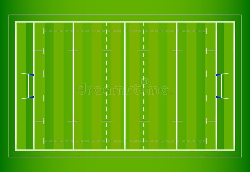 Rugby-Feld vektor abbildung
