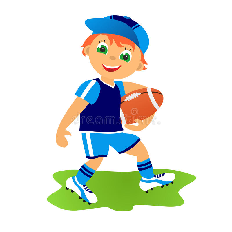 Rugby football stock illustration