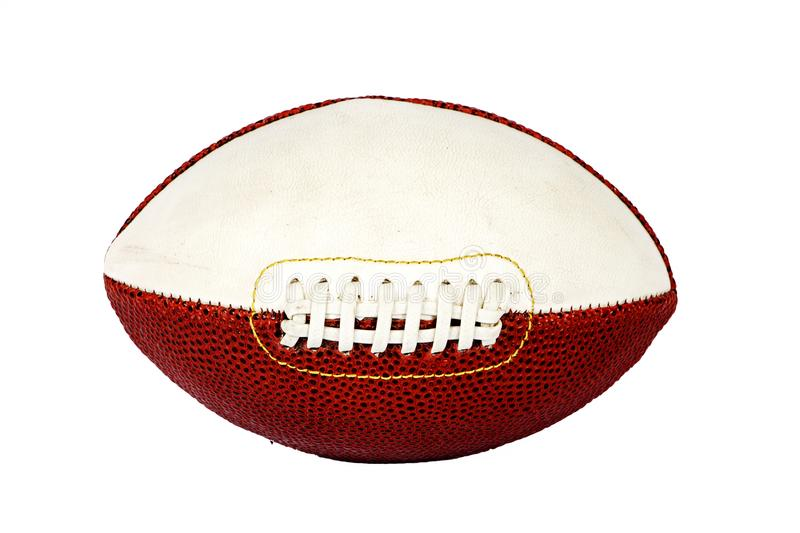 Rugby football, leather isolated on white background. The ball for rugby. A ball for American football. stock photography