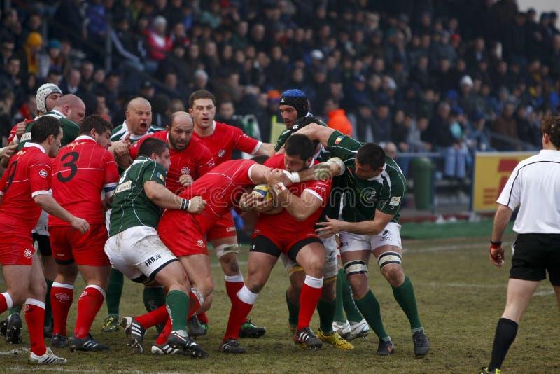 Rugby : La Roumanie la Géorgie photographie stock libre de droits