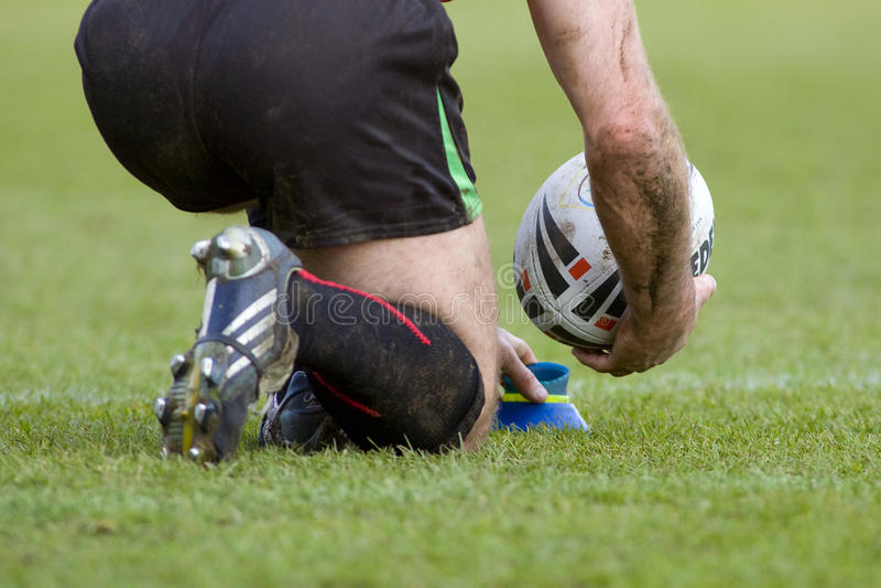 Rugby-Liga: Harlekine gegen Wakefield lizenzfreies stockbild