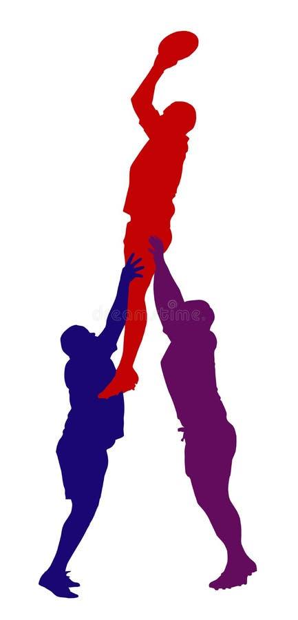 Rugby Lineout bluzy poparcia odosobnienie ilustracji