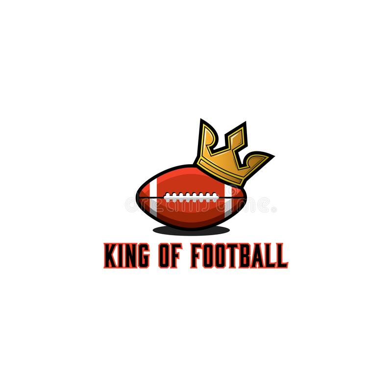 Rugby lub futbolu amerykańskiego balowy logo sporta turnieju emblemata szablon, kolorowego sporta ilustracyjny majcher lub klub k ilustracji