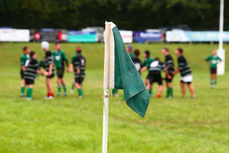 Rugby-Markierungsfahne stockfotografie