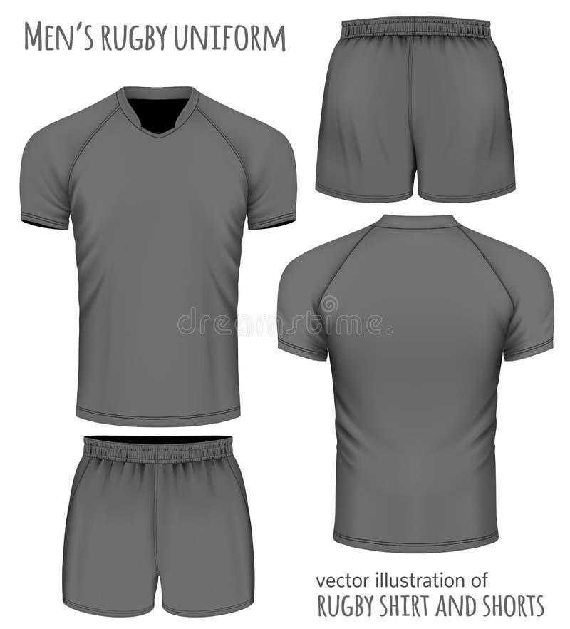 Rugby mundur w czerni ilustracji