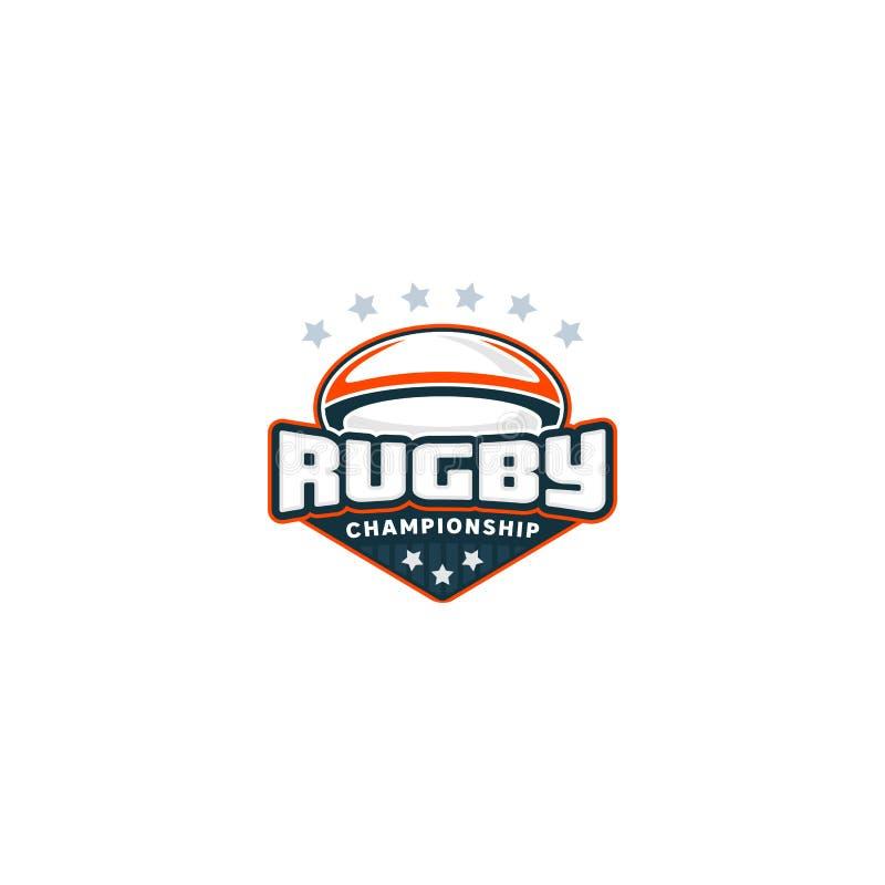 Rugby odznaka Ilustracja plenerowa przygoda sportów projekta ikona również zwrócić corel ilustracji wektora ilustracja wektor