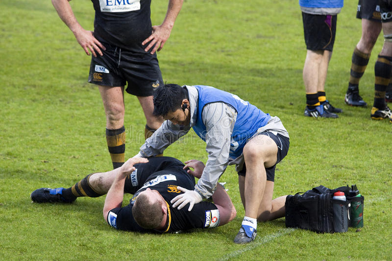 Download Rugby physiotherapy editorial stock photo. Image of male - 14108463