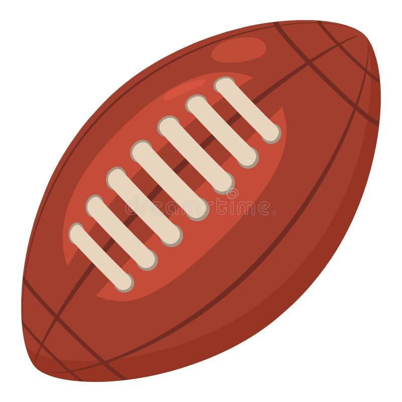 Rugby piłki ikona, kreskówka styl ilustracji