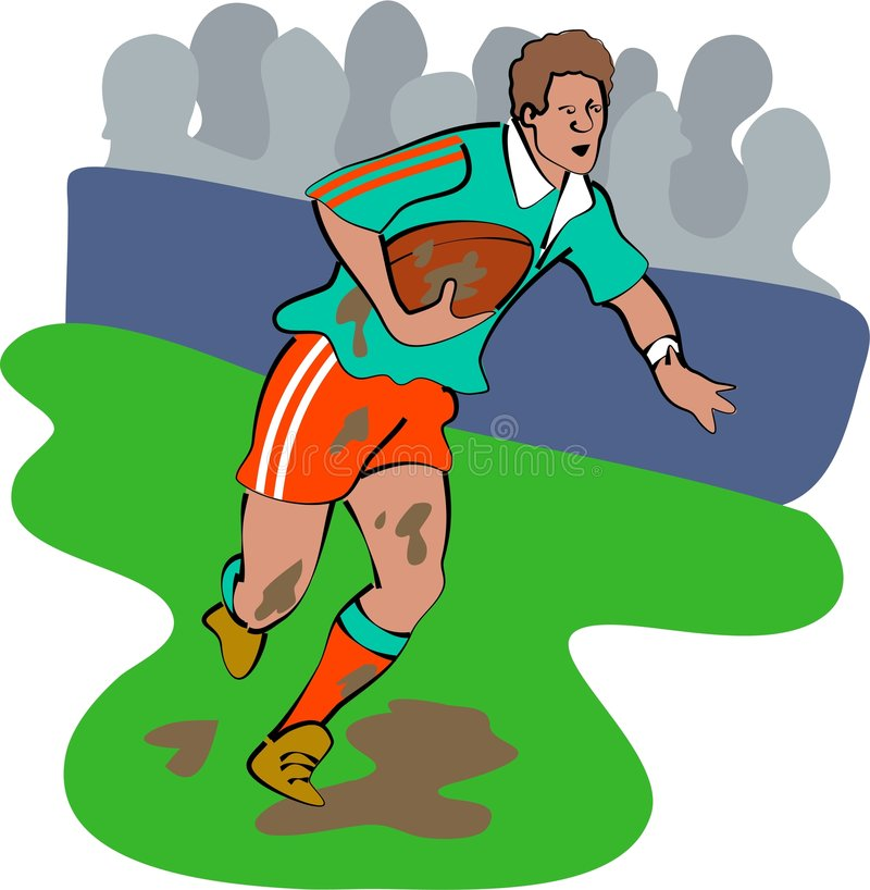 Rugby player stock illustration