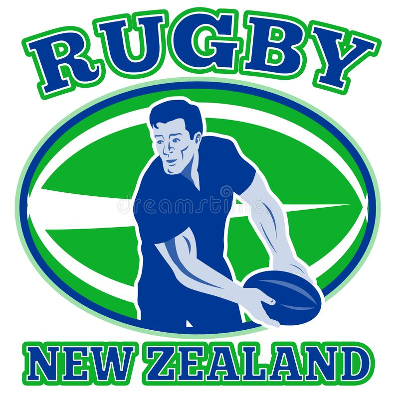 Rugby player new zealand royalty free stock photography