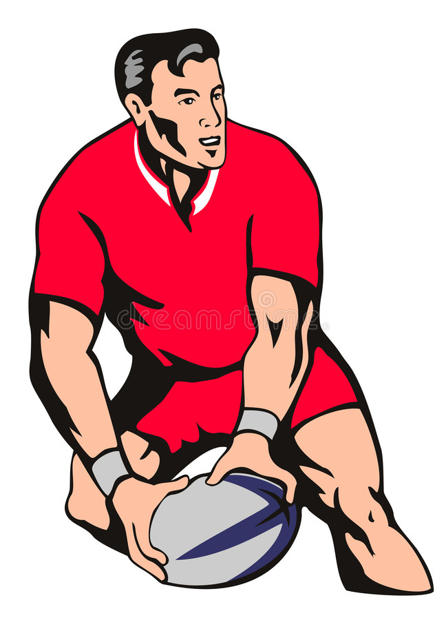Download Rugby player passing ball stock illustration. Image of zealand - 2939067