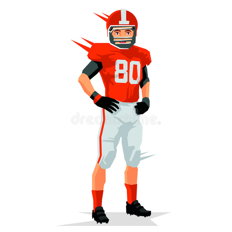 Rugby player. Sports concept. American rugby player. Vector illustration on white background. Sports concept royalty free illustration