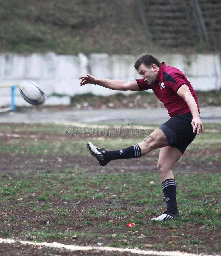 Download Rugby players in action editorial stock image. Image of huddle - 17263209
