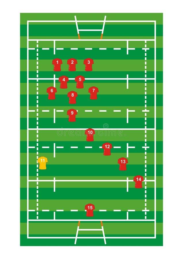 Download Rugby pole ilustracja wektor. Obraz złożonej z trener - 28387303