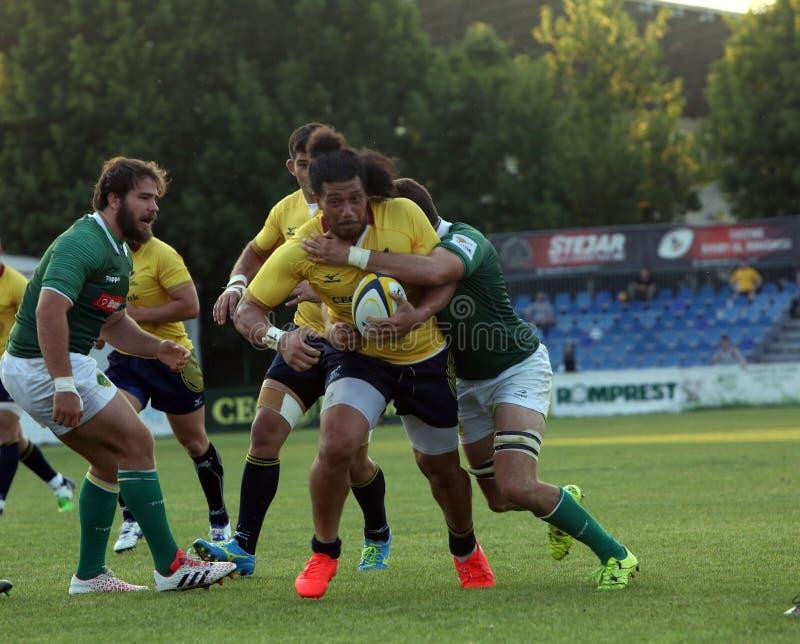 Rugby Roumanie - Brésil photo libre de droits
