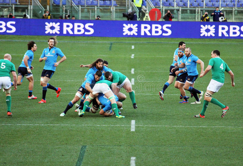 A rugby scrum stock photos