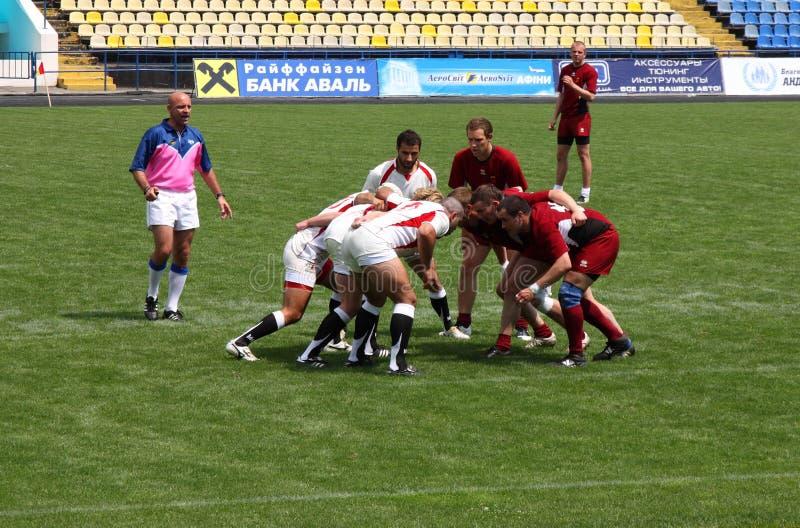 Rugby sevens Meisterschaft stockbilder