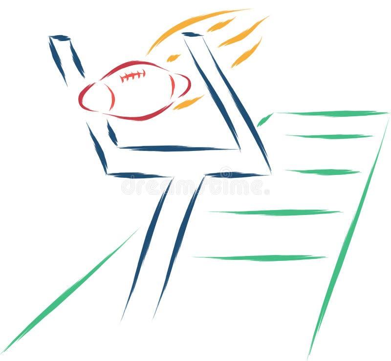 Rugby skissar vektor illustrationer