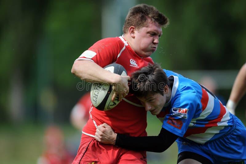 Rugby Skra Warszawa, Budowlani Łódzki - fotografia royalty free