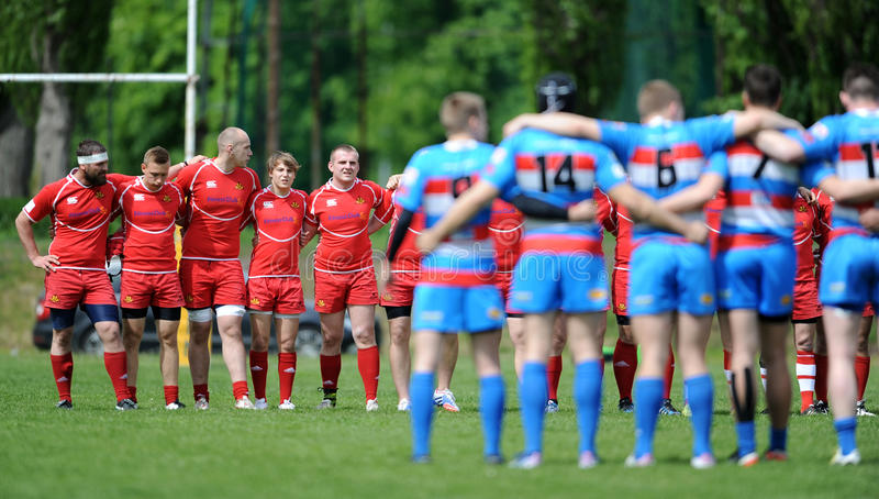 Rugby Skra Warszawa - Budowlani Lodz arkivfoton