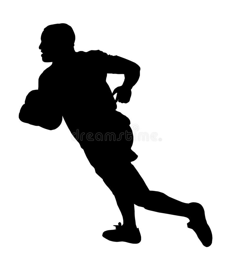 Rugby Speedster Running stock image