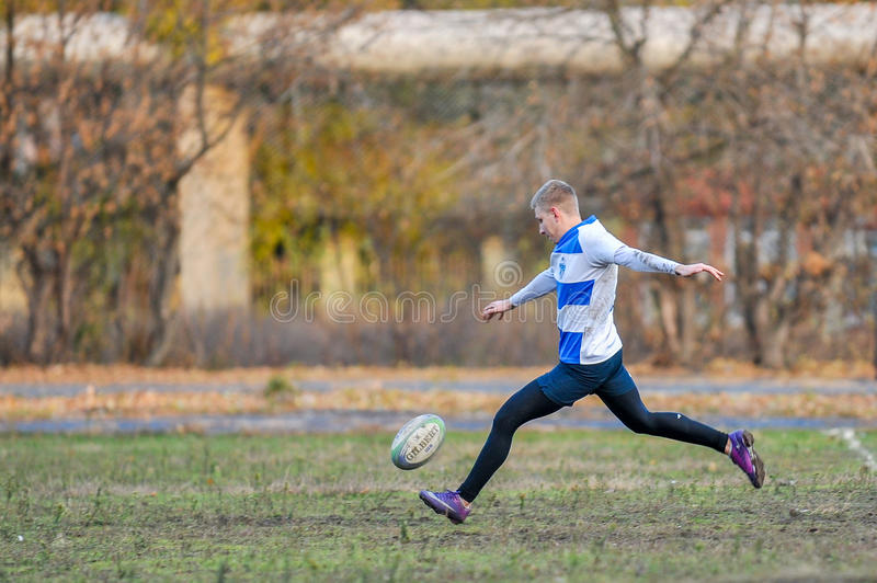 Rugby-Spiel lizenzfreies stockbild