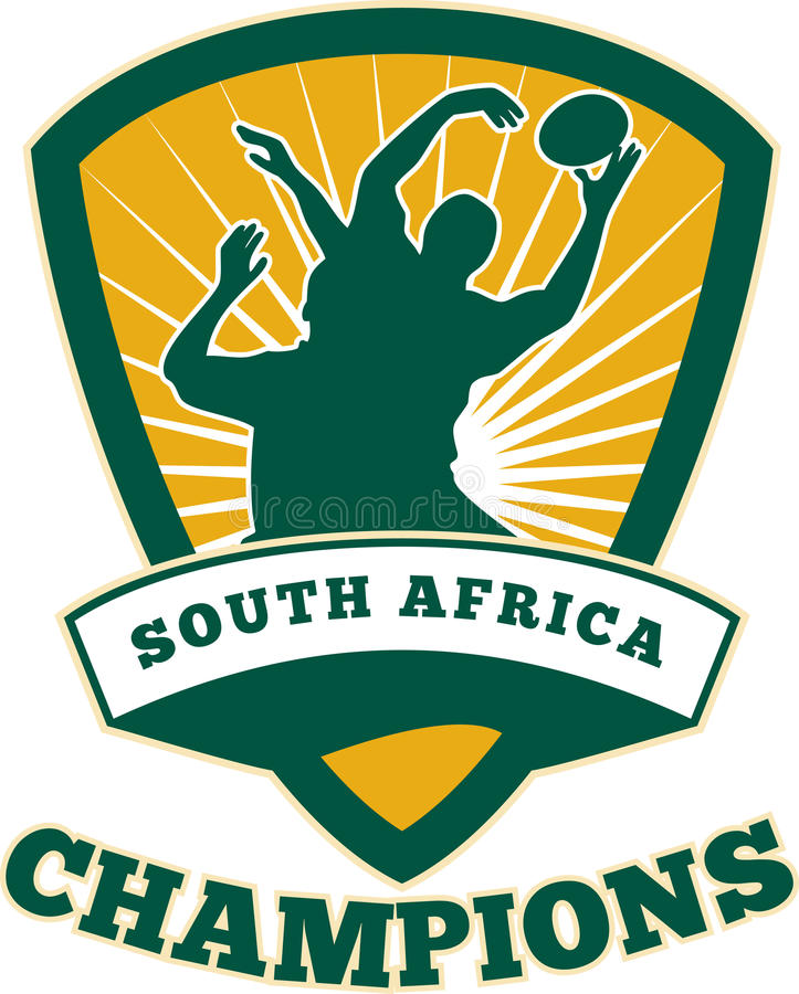 Rugby-Spieler-Südafrika-Meister stock abbildung