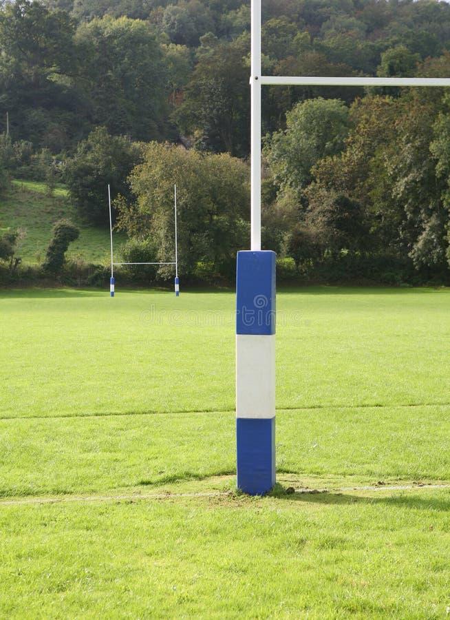 Rugby-Sport-Feld-Pfosten stockfotos
