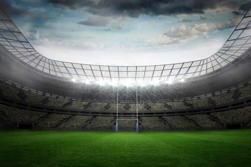 Rugby stadium vector illustration
