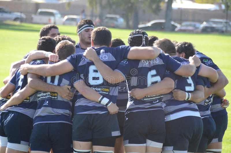 Rugby-Team lizenzfreies stockbild