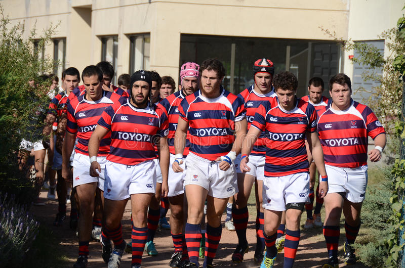 Rugby-Team stockfotos