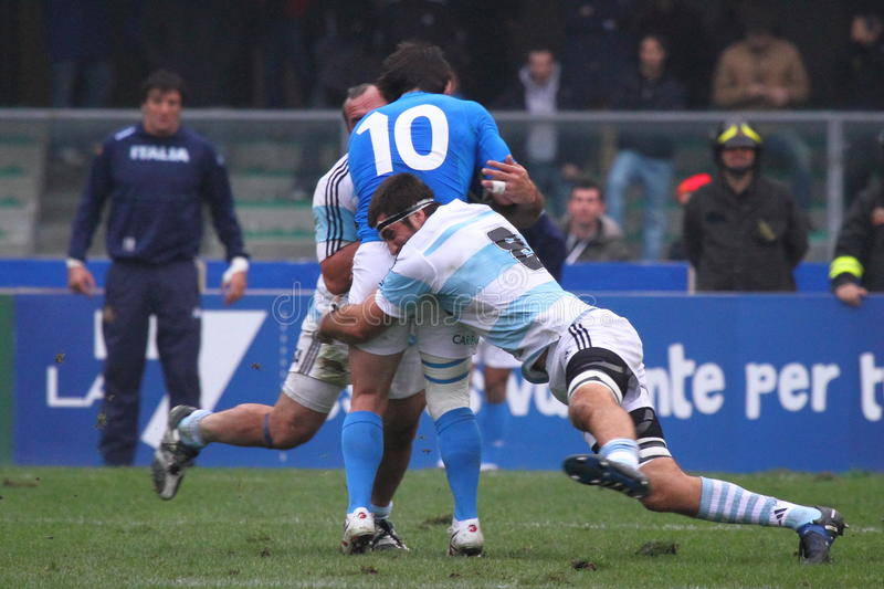 Rugby Test Match 2010: Italy Vs Argentina (16-22) Editorial Photo