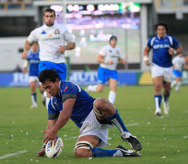 Download Rugby Test Match Italy Vs Samoa; Lemi Editorial Stock Image - Image: 12008824