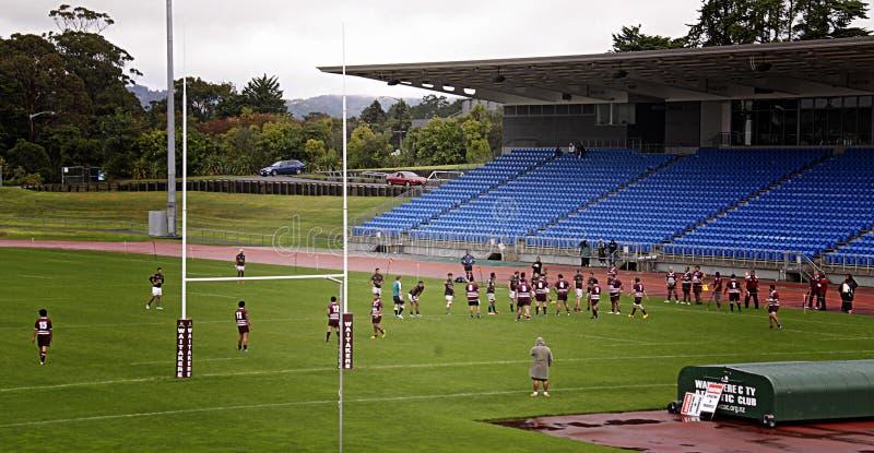 Rugby Union Club Waitemata vs Waitakere City stock image