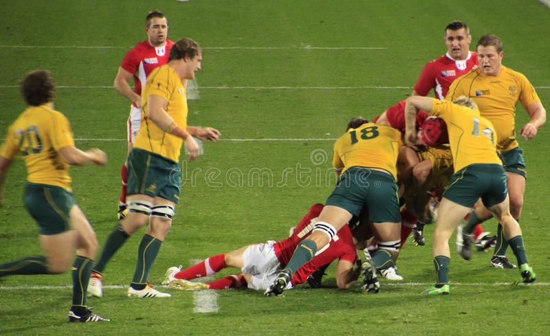 Rugby World Cup 2011 Australia versus Wales royalty free stock photos