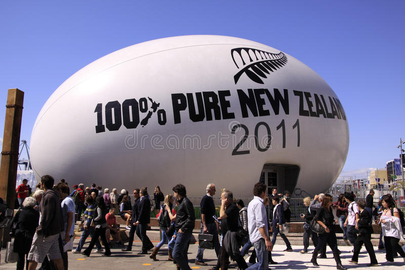 Rugby World Cup Ball New Zealand 2011 royalty free stock image