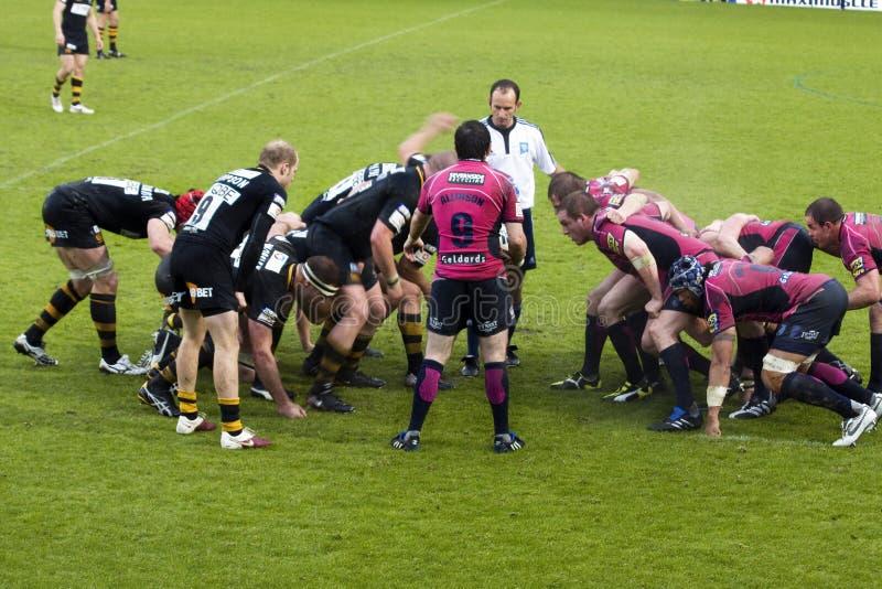 Rugbyabgleichung stockfoto