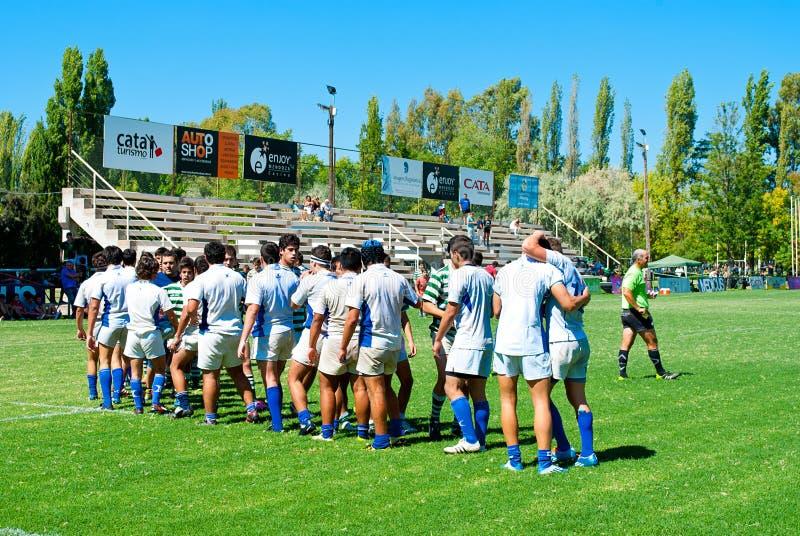 Rugbyabgleichung stockbilder