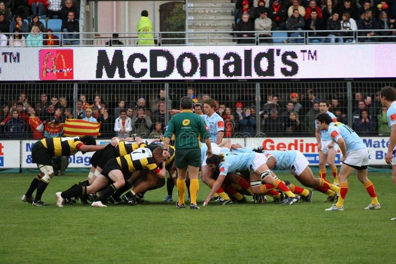 Rugbyabgleichung USAP der Oberseite 14 gegen Albi lizenzfreies stockfoto
