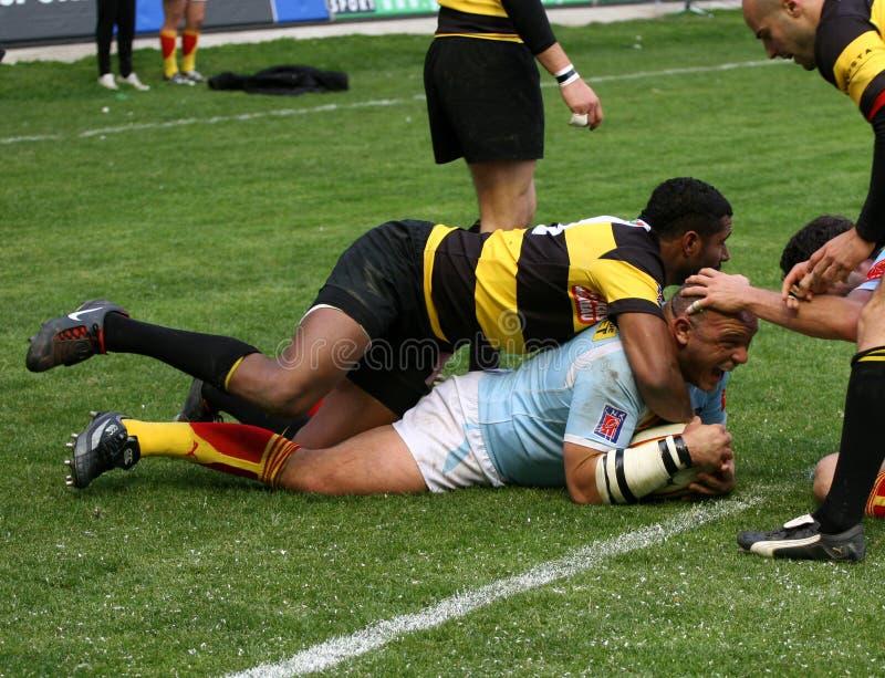 Rugbyabgleichung USAP der Oberseite 14 gegen Albi lizenzfreie stockbilder