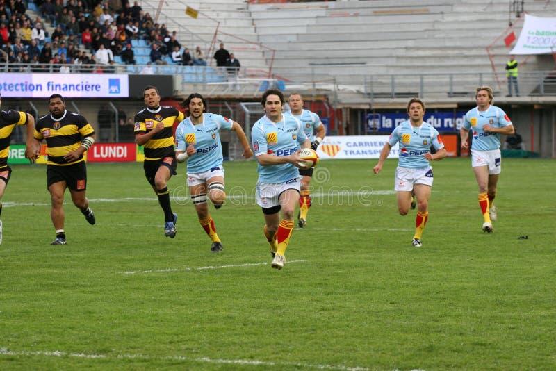Rugbyabgleichung USAP der Oberseite 14 gegen Albi lizenzfreie stockfotografie